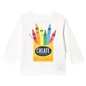 GAP Toddler Graphic Long Sleeve T-Shirt New Off White 4 r