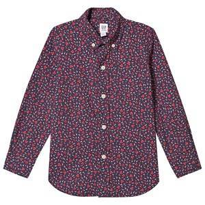 GAP Poplin Shirt Tapestry Navy/Red L (10-11 r)