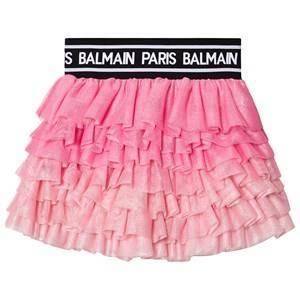 Balmain Logo Tyll Skjorte Rosa 8 years