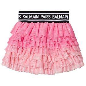 Balmain Logo Tyll Skjorte Rosa 10 years