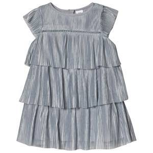 GAP Tiered Pleated Dress Crystal Blue Dusk 4 r