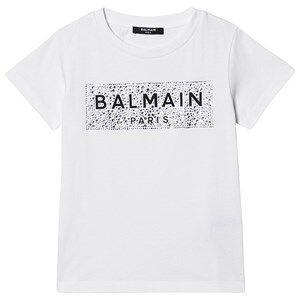 Balmain Diamante Logo Tee Hvit 10 years