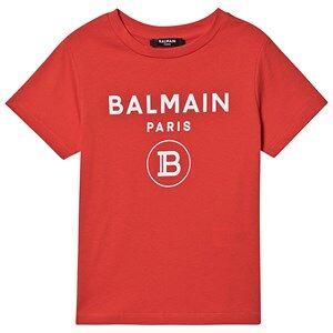 Balmain Logo T-Skjorte Rd 8 years