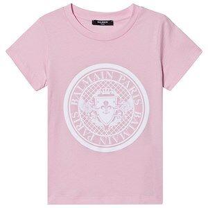 Balmain Medallion Logo T-skjorte Rosa 8 years