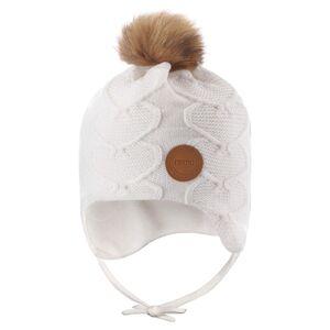 Reima ullue med hjerter og knyting til barn, hvit