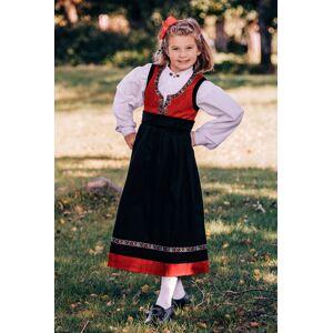 Salto bunad / Festdrakt til jente med skjorte, rød