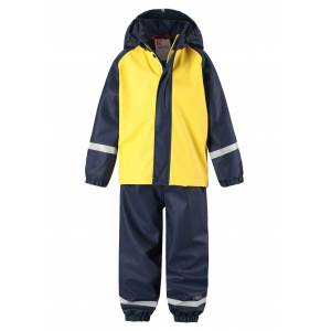 Reima foret regnsett med fleece til barn Joki, gul og blå