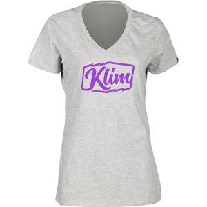 Klim Script Ladies t-skjorte Grå L