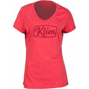 Klim Script Ladies t-skjorte Rød M