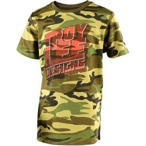 Troy Lee Designs Block Party Youth t-skjorte Flerfarget XL