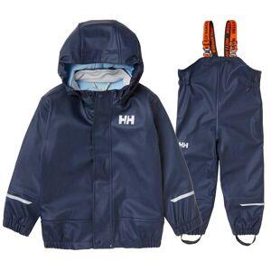 Helly Hansen Barn Moss Pu Rainset Regnbukse marinen 104/4