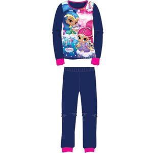 Blå Shimmer and Shine Pyjamas i Fleece til Barn