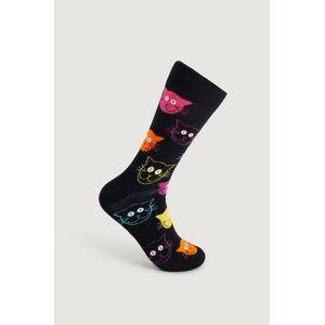 Happy Socks Strumpor Cat Sock Svart