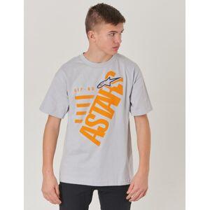Alpinestars, BIGUN TEE, Grå, T-shirt/Linnen till Kille, M