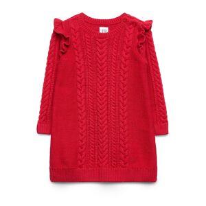 GAP Baby Ruffle Sweater Dress Klänning Röd GAP