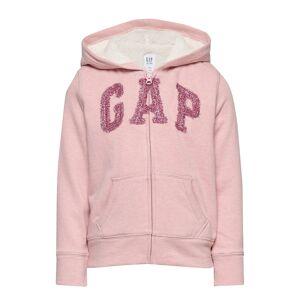 GAP Kids Gap Logo Sherpa Hoodie Sweatshirt Hoodie Rosa GAP