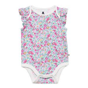 GAP Baby Print Ruffle Bodysuit Bodies Short-sleeved Multi/mönstrad GAP