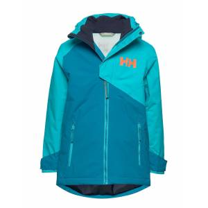 Helly Hansen Jr Cascade Jacket Outerwear Snow/ski Clothing Snow/ski Jacket Blå Helly Hansen