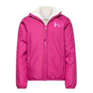 Helly Hansen Jr Reversible Pile Jacket Outerwear Fleece Outerwear Fleece Jackets Rosa Helly Hansen