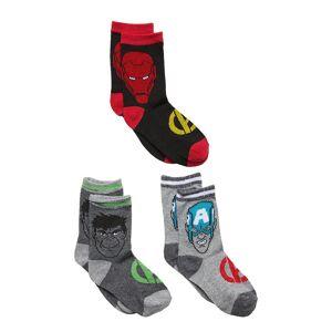 Marvel Pack 3 Socks Sockor Strumpor Grå Marvel
