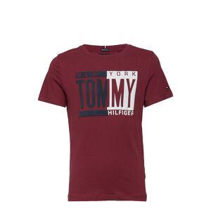 Tommy Hilfiger Puff Print Tee S/S T-shirts Short-sleeved Röd Tommy Hilfiger