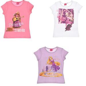 Disney Rapunzel kortärmad T-shirt barn (Rosa, 6A - 116 cm)