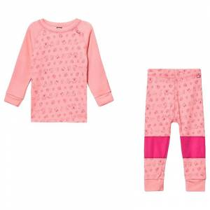 Helly Hansen Lifa JR Merino Underställ Set Rosa 2 years