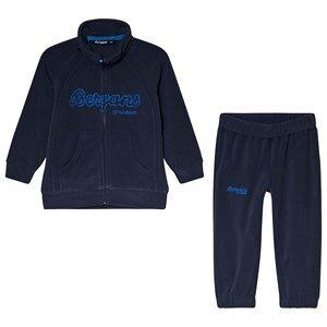 Bergans Smadol Barn Fleece Träningsset Marinblå 128 cm (7-8 år)