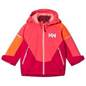 Helly Hansen Pink Colourblock Rider Insulated Kids Ski Jacket Skidjackor