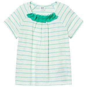 GAP Chiffon Applique Randig T-shirt Aqua Tide XL (11-12 år)