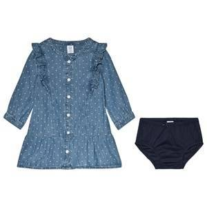 GAP Dot Print Denim Klänning 5 år