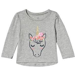 GAP Unicorn Tröja Grå Heather 2 år