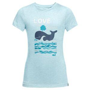 Jack Wolfskin Ocean T-shirt Kids Gulf Stream (Storlek: 164)
