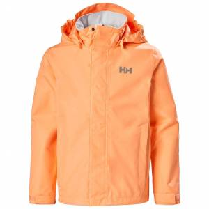 Helly Hansen Junior Seven J Rain Jacket With Hood   Hh Se 176/16 Orange