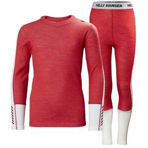 Helly Hansen Junior Lifa Merino Midweight Base Layer Set   Hh Se 176/16 Pink