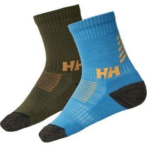Helly Hansen Lifa Marino Strumpa 2-Pack, Scarab Green 23-25
