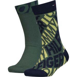 Tommy Hilfiger Diagonal Strumpa 2-pack, Army Green 35-38