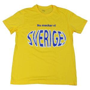 T-shirt Nu Snackar Vi Sverige   Barn134/140clGul Gul