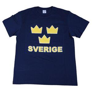 Sverige T-shirt Tre Kronor   Barn158/164clMarinblå Marinblå