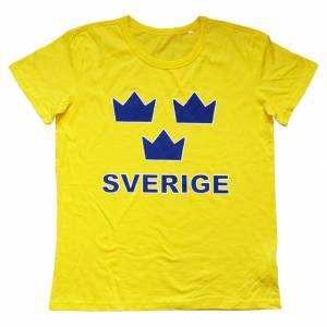 Sverige T-shirt Tre Kronor   Barn146/152clGul Gul