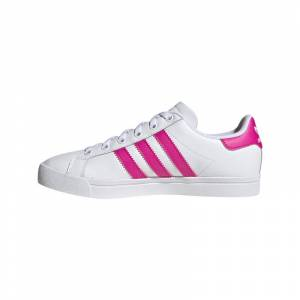 Adidas Coast Star Skor Junior Vit Rosa