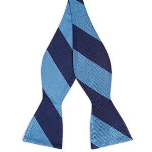 Trendhim Selvbinder Butterfly i Silke med Marineblå og Blå Striber