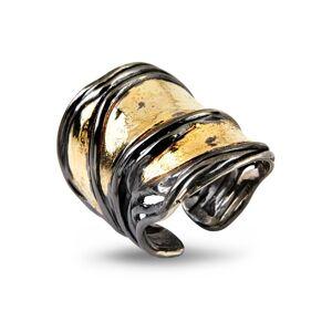 By Birdie Nebula Grand Golden Sterling Sølv Ring fra By Birdie med 18 Karat Guld