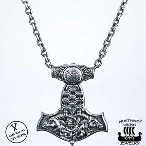 Viking Northern Viking Jewelry Vegvisir Thorin Vasara hopeariipus NVJ-H-RS023