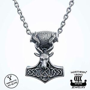 Viking Northern Viking Jewelry Goat Thorin Vasara hopeariipus NVJ-H-RS035