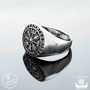 Viking Northern Viking Jewelry Vegvisir sormus