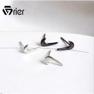 Grier S925 Sterling Silver Elevs Exquisite Stud Earrings for Women Luxury Jewelry Making hook Earrings