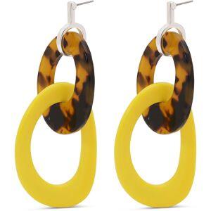Pilgrim Earrings, Silver/Yellow