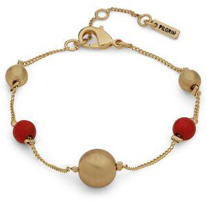 Pilgrim Holly Bracelet, Gold/Red