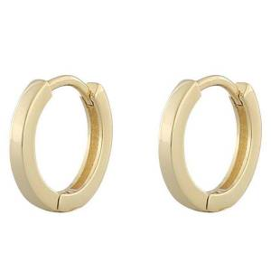 Snö Of Sweden Anchor Small Ring Earring Plain Gold 14,5mm